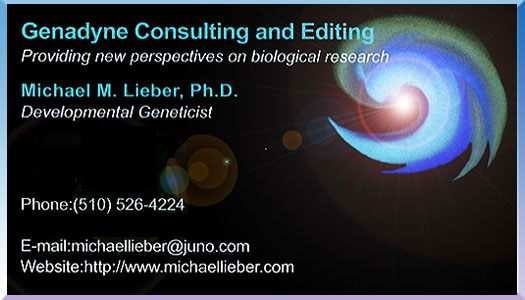 Micahel M. Lieber Developmental Geneticist Biological Research Consulting and Editing Services Berkeley California
